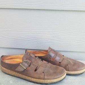 Haflinger slip on sandals